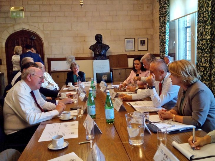 The delegation from Albania held roundtable discussions with UK counterparts chaired by BGIPU Vice-Chair Mike Gapes MP