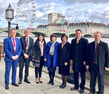 The delegation visited the UK Parliament to hear more about Brexit and to strengthen relations between the UK and North Macedonia.JPG