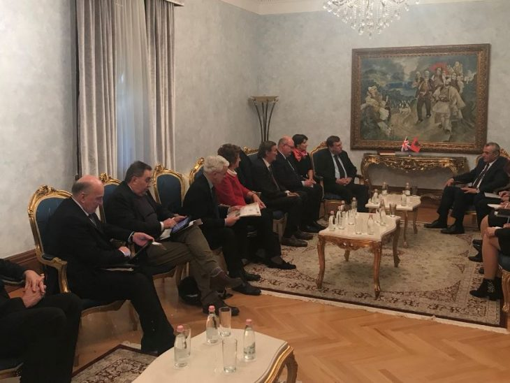 UK Delegation discusses mutual interest with the Albanian Speaker
