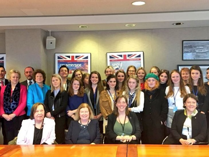 The BGIPU delegation joined with members of the Select Commitee on Women and Equalities to meet young British delegates also attending CSW