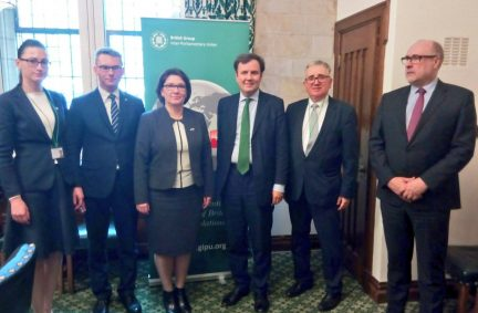 The Polish delegation led by Beata Mazurek MP meet UK Minister of State for Trade, Greg Hands MP,
