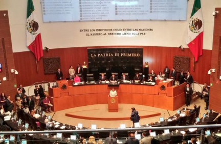 The UK delegation witnessed the first Senate appearance of the new Mexcian Foreign Minister