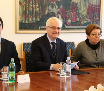 President of Croatia, Ivo Josipovic during the meeting with BGIPU Delegates.JPG