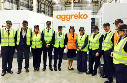 Delegation hosted by Aggreko in Dumbarton