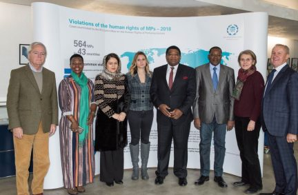 Members of the IPU Committee on Human Rights of Parliamentarians meet in Geneva at IPU HQ
