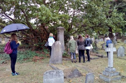 BGIPU staff visited Hampstead Cemetery on 29 September in tribute to IPU Founder Sir William Randal Cremer MP
