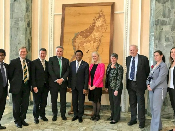 UK delegation meets the President of Madagascar, His Excellency Rajaonarimampianina Rakotoarimanana