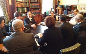 The delegation meet the Acting Clerk of the House of Commons, David Natzler