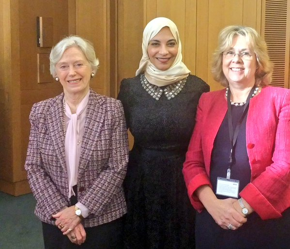 Dr Hayat S. Sendi discussed political empowerment of women and role of women in science and education with UK counterparts Baroness Hooper and Baroness Northover