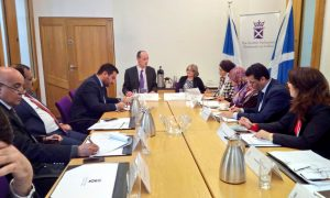 The delegation from Iraq visited Edinburgh and had series of calls at the Scottish Parliament