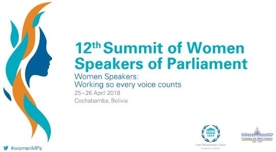 The 12th Summit of Women Speakers of Parliament will bring together the most senior women parliamentary leaders to address gender issues in parliaments.