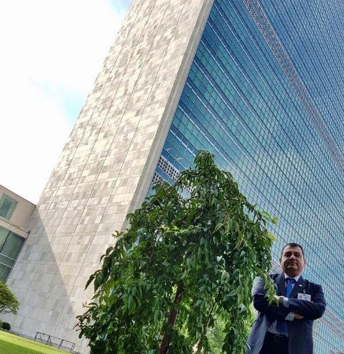 IPU President, Saber Chowdhury MP, at the UN HQ in New York