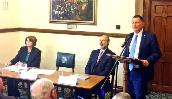 Speaker Edelstein addresses MPs and Peers chaired by Louise Ellman MP with BGIPU Treasurer, Fabian Hamilton MP