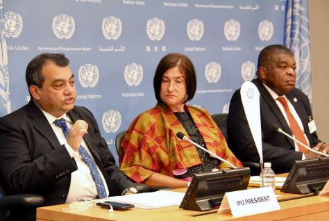 IPU Press Conference in conjunction with the HLPF at the UN in New York