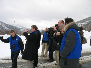 The delegation visit an EUMM border monitoring point