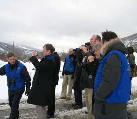 The delegation visit an EUMM border monitoring point