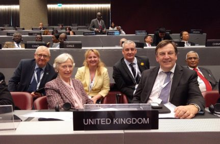 Some members of the UK delegation to the 138th IPU Assembly