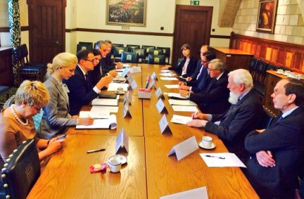 Roundtable discussions with BGIPU Members chaired by Ukraine APPG Chair, Sir Gerald Howarth MP