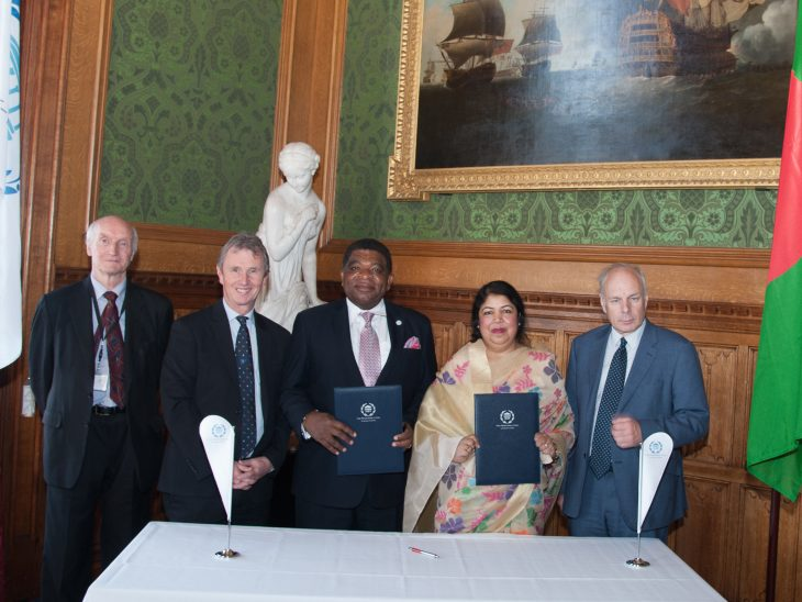 BGIPU Officers, Lord Anderson, Chair Nigel Evans MP and Ian Liddell-Grainger MP attended the ceremony