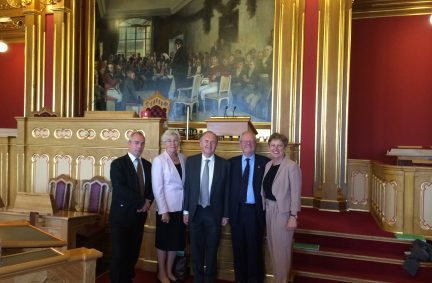 UK Delegation visit the Chamber of the Norwegian Storting