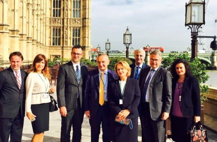Albanian delegation touring the Palace of Westminster with BGIPU ExCo member Tim Loughton MP