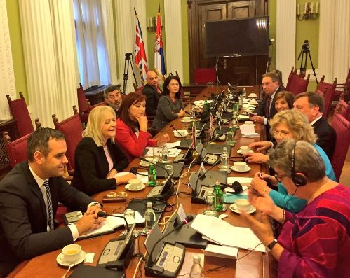 UK Delegation meet the Foreign Affairs Committee of the National Assembly