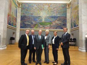 UK Delegation visit Professor Sejersted at University of Oslo