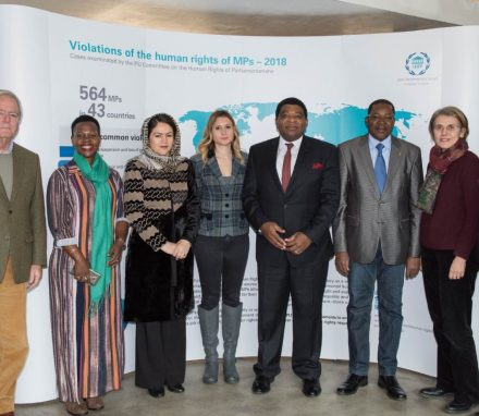 Members of the IPU Committee on Human Rights of Parliamentarians meet in Geneva at IPU HQ.JPG