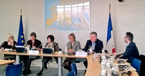 The UK delegation meets members of the European Affairs Commission of the French National Assembly