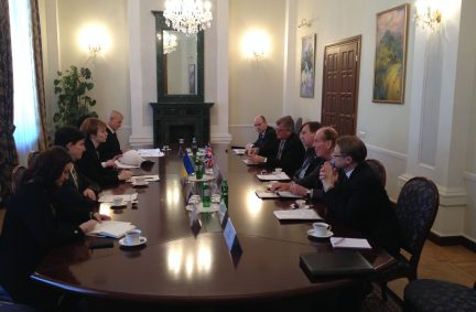 Discussions with Olena Zerkal, Deputy Foreign Minister for European Integration