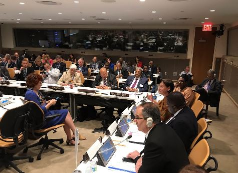 Parliamentarians from across the world, including the UK's Lord McConnell, attend an IPU meeting in the margins of the UN HLPF
