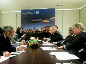 Addressing issues of mutual concern at bilateral discussions b/w delegations from the UK and Afghanistan