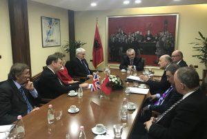 UK Delegation led by John Whittingdale meets HE President Meta of Albania
