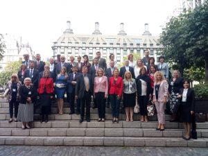 Delegates to the BGIPU International Seminar on the Western Balkans at UK Parliament