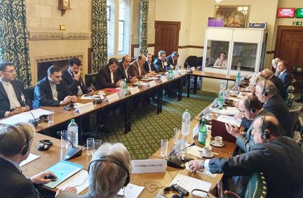 Roundtable meeting between UK and Iranian parliamentarians chaired by Rt Hon Jack Straw MP