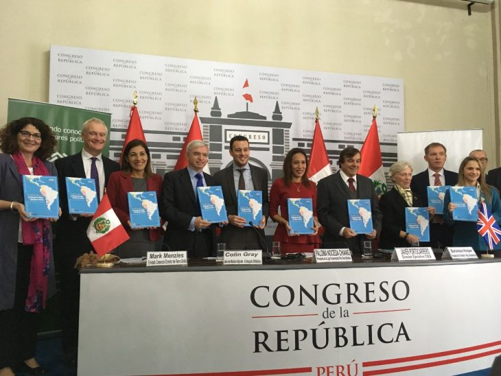 The delegation also participated in the launch of a book on parliamentary procedures in Pacific Alliance countries, supported by the British Embassy in Lima.