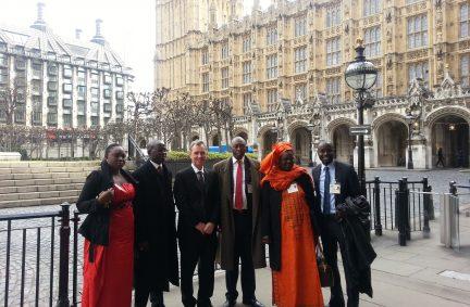 The Parliamentary Delegation from Senegal with Nigel Evans MP, Deputy Speaker