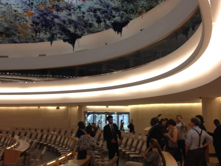 Visiting the UN Human Rights Council in Geneva