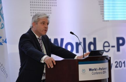 The Speaker of the House of Commons addresses the World e-Parliament Conference in Seoul