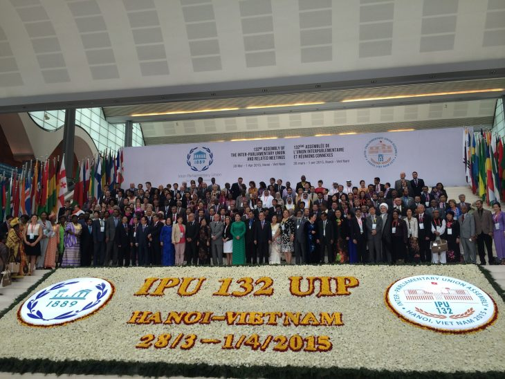 The participants in 132nd IPU Assembly in Hanoi