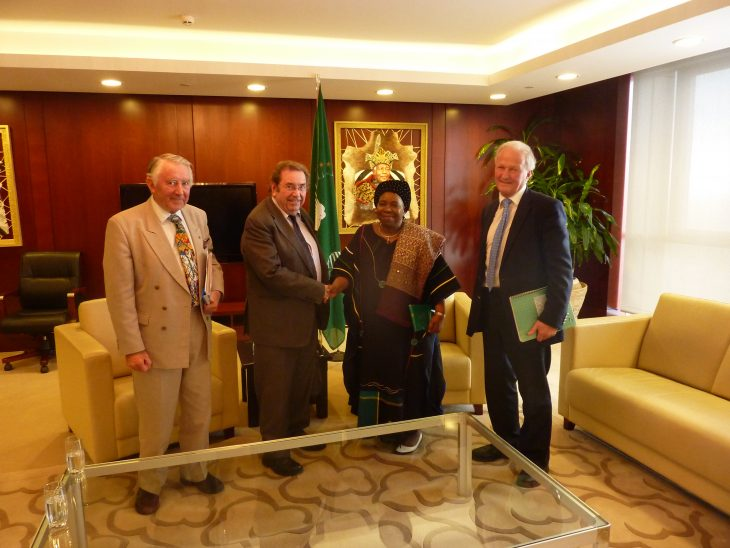The Delegation with H.E. Dr. Nkosazana C. Dlamini Zuma Chairperson of the African Union Commission