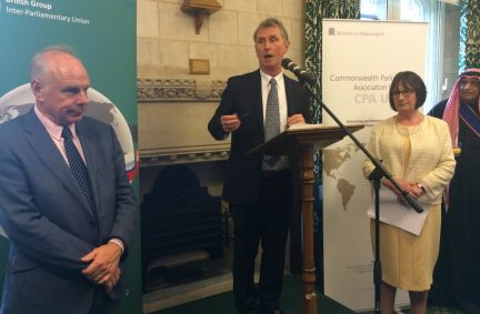 BGIPU Chair thanks the diplomatic corps for its support of UK inter-parliamentary bodies