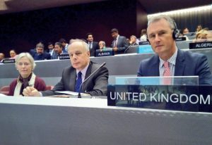 The BGIPU Chair, Nigel Evans MP, (right of picture) will lead the UK delegation to the 139th IPU Assembly
