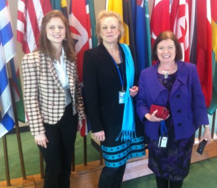 UK delegation members at CSW59