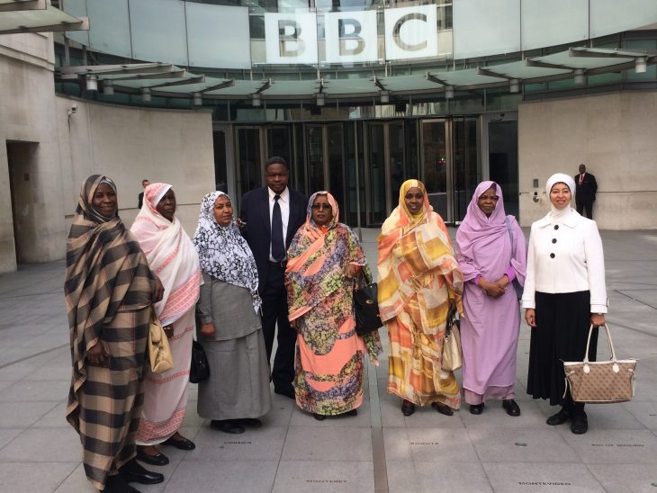 The Sudan delegation visiting the BBC World Service at BBC HQ
