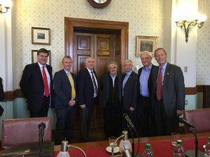 The UK Delegation accompanied by Ambassador Lyster-Binns also meet former President Mujica