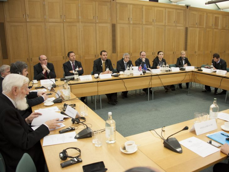 The Speaker and Delegation at roundtable discussion with UK MPs