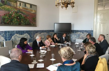 UK Delegation meets State Secretary for Foreign Affairs of Portugal, Dr Ribeiro