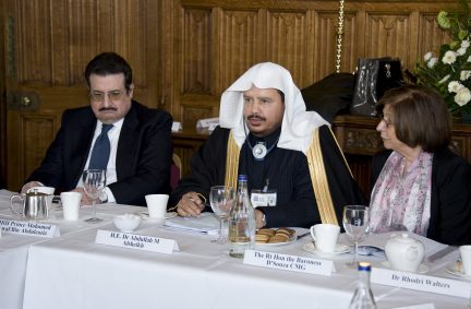The Lord Speaker with the Speaker of the Shura Council at the roundtable discussions meeting