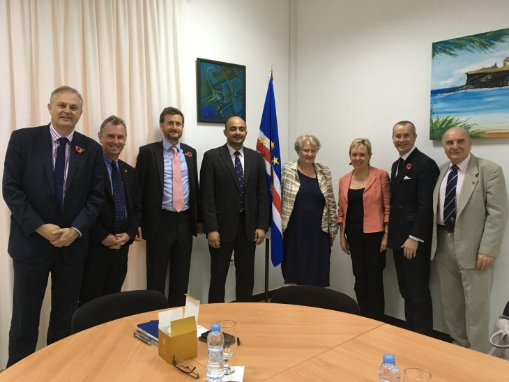 The UK Delegation with the Interior Minister of Cabo Verde and the UK Ambassador, HE George Hodgson